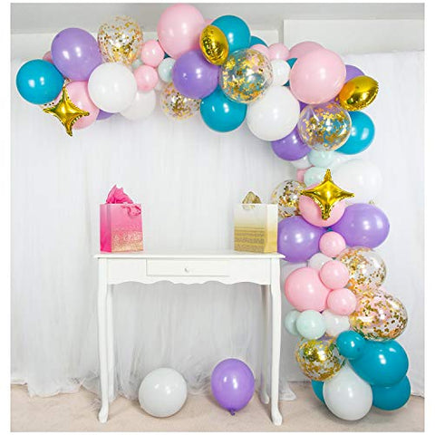 Mermaid Unicorn Balloon Garland & Arch Kit, Unicorn Party Supplies for Birthdays & Baby Showers