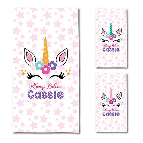 Personalised Unicorn Bath Towels | Always Believe