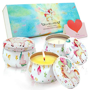 Unicorn Scented Candles | Aromatherapy Gift Set | Natural Soy Wax Candle