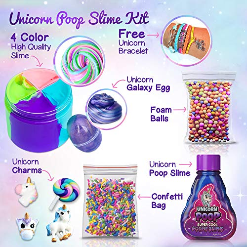 Unicorn Poop Slime Kit For Girls