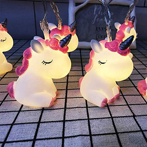 Unicorn Shaped 10 LED Fairy String Lights | Battery Powered | Night Light | Kids