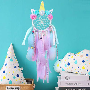 Unicorn Dream Catchers for Girls Bedroom Wall Hanging Decoration