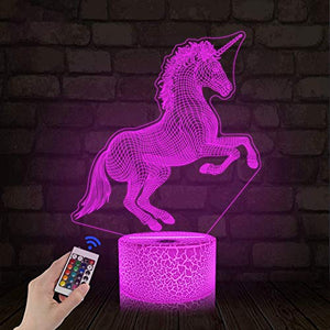 Unicorn 3D Night Light For Kids | Projection LED Lamp