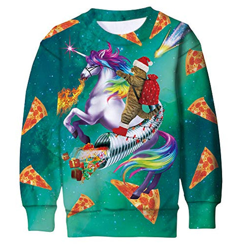 Novelty Fun Unicorn Xmas Jumper | Unisex Adults, Teens, Boys & Girls