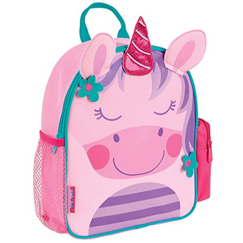 stephen joseph unicorn backpack pink with flower embelishments