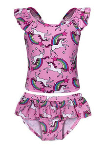 Tankini kids swimming costume unicorn