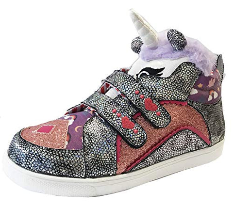 Irregular Choice Girls' Mini Candy Trainers, (Silver/Pink C)