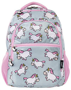 Unicorn school backpack rucksack pink blue