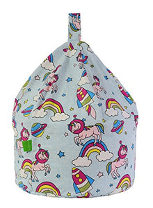 Cotton Space Unicorn Pastel Rainbow Bean Bag Child Size By Bean Lazy