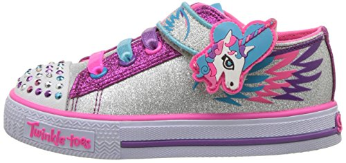 Twinkle Toes Skechers Unicorn glitter pink purple kids shoes