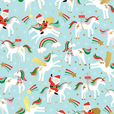 Christmas Unicorns Wrapping Paper