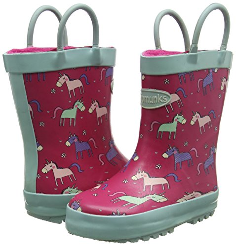 Unicorn themed wellies boots wellington for girls, pink and pastel