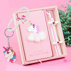Unicorn Notebook Gel Pens Set - Journal Diary Stationery Set