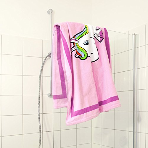 Unicorn bath towel bathroom pink