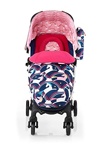 cosatto unicorn pram pushchair baby push chair stroller buggy rainbows unicorns magic review