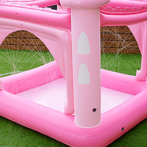 unicorn castle paddling pool pink