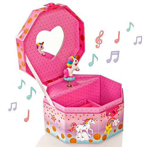 Unicorn musical jewellery box heart lock
