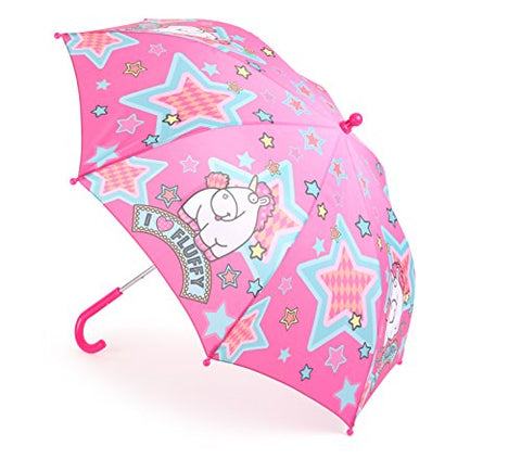 Mercopol Fluffy The Unicorn Umbrella | Multicolour | 68 x 68 x 58 cm | Pink