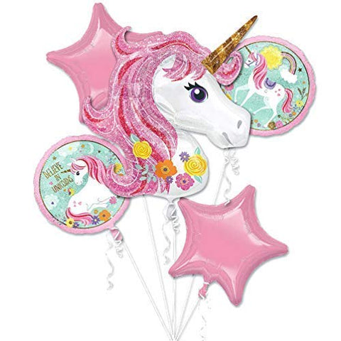 Unicorn Balloon Rainbow Theme Party - Pink