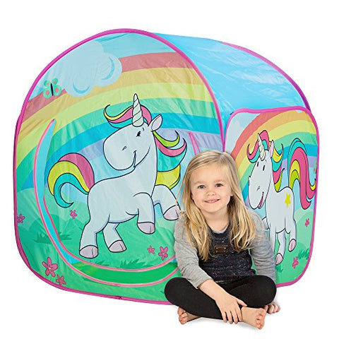 Children's Unicorn Play Tent, Play House with a unicorn rainbow motif