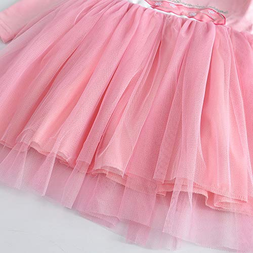 Unicorn Tulle Dress For Girls | Pink