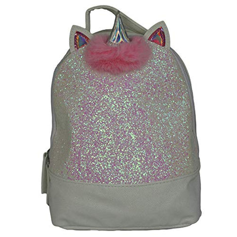 Holographic unicorn backpack silver