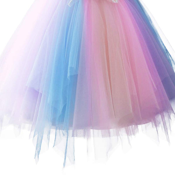 Pastel Unicorn Tutu Dress for Xmas Halloween New Year Birthday Party or Performance