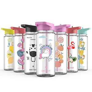 Unicorn Water Bottle With Straw | 720ml | For Girls & Boys