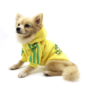 Adidas Dog Outfit Costume - Yellow (Unicorn Worthy)
