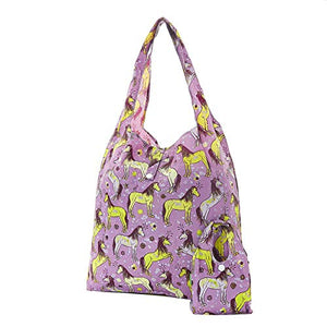 Unicorn Eco Chic Reusable Foldable Shopping Bag (Purple)