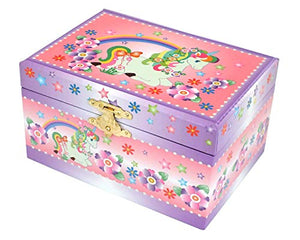Unicorn and Flowers Design Jewellery Box