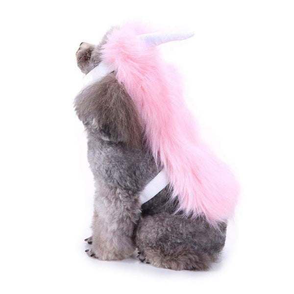 Plush unicorn dog outfit