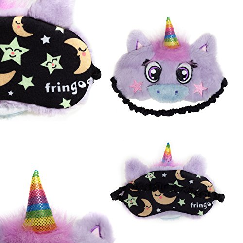 FRINGOO® Sleeping Mask Plush Cute 3D Unicorn Travel Meditation Eye Mask Novelty Lightweight Eyeshade Blindfold Sleepwear Eye Patch (Unicorn)