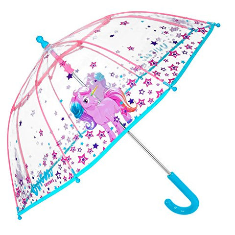 Unicorn Kids Umbrella - Bubble Stick Umbrella for Girls - 3 to 6 Years
