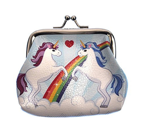 Magic Rainbow Unicorn Mini Clipper Coin Purse