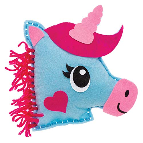 Baker Ross Unicorn Craft Cushion Sewing Kits (Gift Set - Pack of 2)