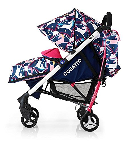 cosatto unicorn pram pushchair push chair stroller buggy rainbows unicorns magic review recline