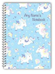 Personalised Unicorn Themed A5 Notebook Soft-backed For Her NB 105