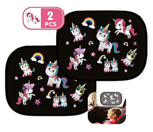 car sun shade unicorn themed