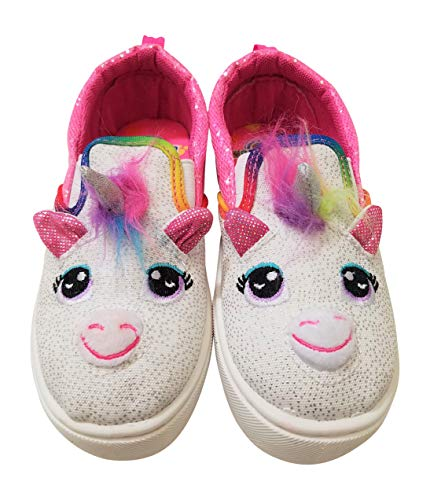 Build-A-Bear Girls Unicorn Character Sneakers Trainers Shoes White
