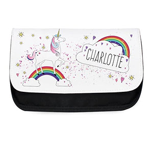Personalised Unicorn and Rainbow Make Up Bag