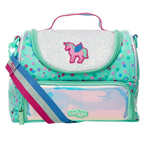 Smiggle Unicorn Print Double Decker Lunchbox for Girls & Boys