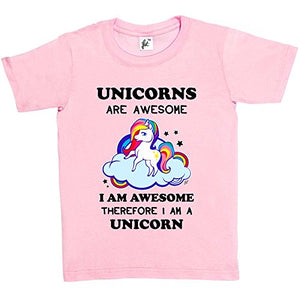 95d688d22 ... Kids Girls T-Shirt Baby Pink 5-6 Year Old. Fancy A Snuggle Unicorns Are  Awesome & So Am I Therefore I'm A Unicorn