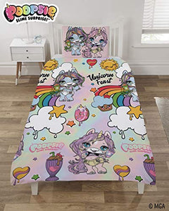 Poopsie Rainbow Unicorn Surprise Reversible Single Duvet Cover