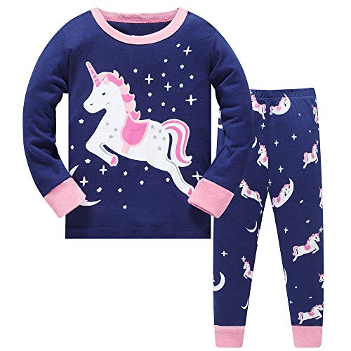 Older Grils Pyjamas for Girl Kids Toddler Unicorn Nightwear Sleepwear Long Sleeve Pjs Set Size 7-8 Years 8T