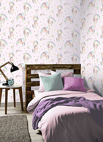Arthouse- Imagine Fun Wallpaper Unicorn Rainbow
