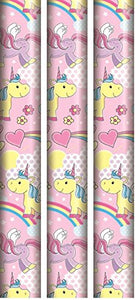 3 Rolls Unicorn Wrapping Paper