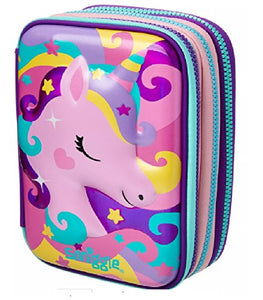 Smiggle Purple Unicorn and Milkshake Pencil Case