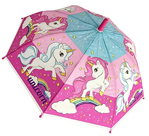 Magical Unicorn Children's Character Folding Umbrella School Kids