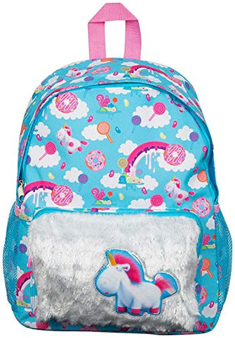 Turquoise unicorn backpack kids